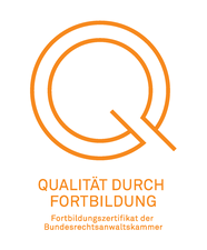 Fortbildungszertifikats-Siegel der Bundesrechtsanwaltskammer Qualität durch Fortbildung